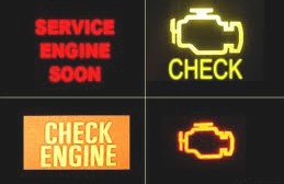check engine light examples